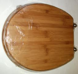 """TOPSEAT BAMBOO TOILET SEAT ROUND BOWL 16.5"""" NEW FACTORY SEAL"""