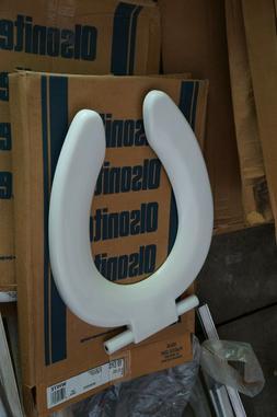 BEMIS Bath Elongated Open Front Toilet Seat White Plastic Hi
