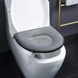 Bathroom Soft Toilet Seat Cover Pads Washable Warm Plush Toi