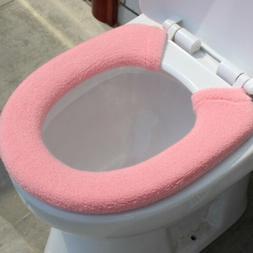 Bathroom Toilet Seat Closestool Soft Warmer Mat Cover Pad Cu
