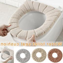 for Bathroom Toilet Seat Closestool Soft Warmer Mat Cover Wa