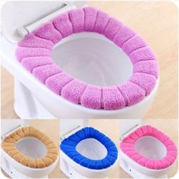 Bathroom Toilet Seat Closestool Washable Soft Warmer Cover M