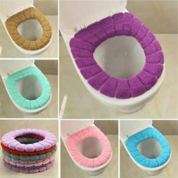 Bathroom Toilet Seat Closestool Washable Soft Warmer Mat Cov