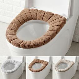 Bathroom Toilet Seat Closestool Washable Soft Warmer Mat Cov