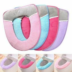 Bathroom Toilet Seat Closestool Washable Soft Warmer Mat Pad