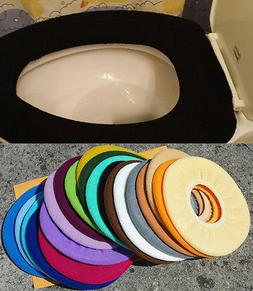 Bathroom Toilet Seat Warmer Cover Washable High Quality- Bla