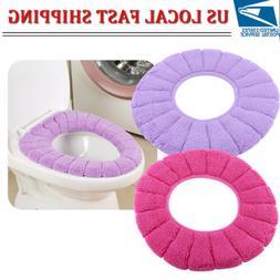 Bathroom Toilet Seat Warmer Cushion Soft Closestool Washable