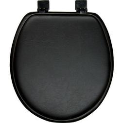Black Padded Soft Toilet Seat - Round