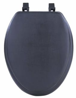 Black Soft Padded Toilet Seat Cushioned Elongated Cover Prem