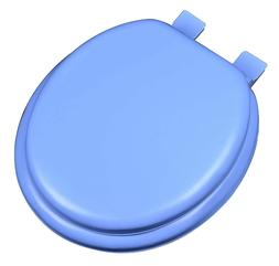 Blue Soft Padded Cushion Toilet Seat Round Standard Size New