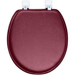Toilet Seat Burgundy Soft Padded Premium Cushioned Standard