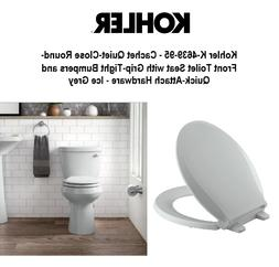 Cachet Quiet-Close Round-Front Toilet Seat with Quick-Releas