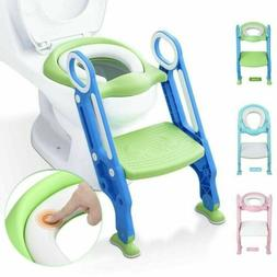 Child Toddler Toilet Chair Kid Potty Training Seat with Step
