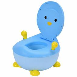 Children Kids Baby Potty Toilet Training Seat Trainer Blue P