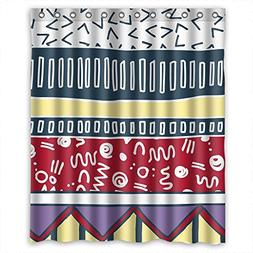 SUNSMILES Christmas Shower Curtains Width X Height / 60 X 72