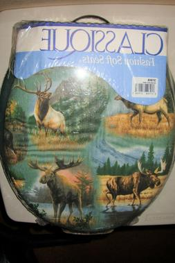 Ginsey Classique Fashion Soft Padded Toilet Seat Moose Wilde