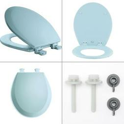 CLOSED FRONT TOILET SEAT Lift Off Round Bathroom Durable Smo