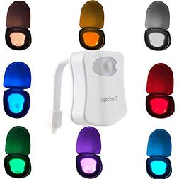 Colorful Motion Sensor Toilet Nightlight ,Oenbopo Home Toi