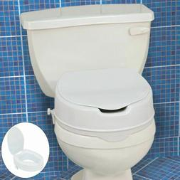 Comfort Elevated Toilet Seat Riser Raised Removable Lifter w