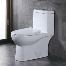 Comfort Height Dual Flush Elongated One-Piece Toilet with So