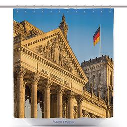 vanfan Cool Shower Curtains Close Up View Of Famous Reichsta