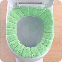 Sothread Creative Toilet Seat Cushion Velvet Coral Pumpkin P