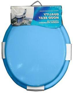 Aqua Plumb CTS100BL Round Wood Toilet Seat Blue Case of 6
