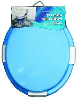 Aqua Plumb CTS100BL Round Wood Toilet Seat - Blue