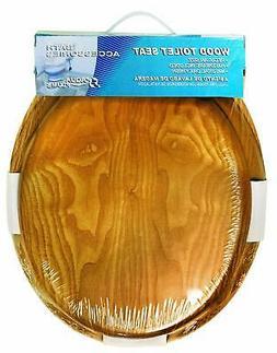 Aqua Plumb Aqua Plumb CTS100OAKP Round Wood Toilet Seat with