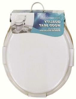 Aqua Plumb CTS100W Round Wood Toilet Seat White Case of 6