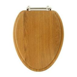 cts104oak elongated wood toilet seat