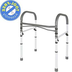 Deluxe Bathroom Safety Toilet Rail - Adjustable Handrail Ass