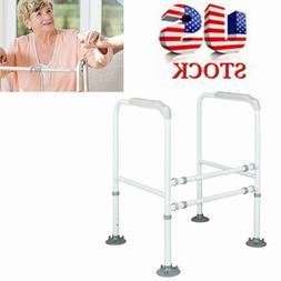 Deluxe Bathroom Safety Toilet Rail - Adjustable Handrail Ass