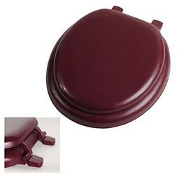 Deluxe Claret Burgundy Soft Cushion Round Toilet Seat - Anti