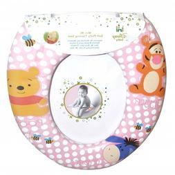 Disney Winnie The Pooh 'Pink' Kids Padded Toilet Seat Soft P