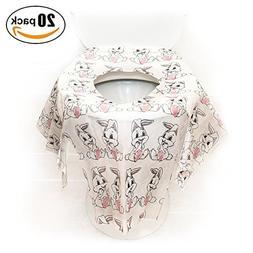 Kids Disposable Toilet Seat Covers Potty Training 20 Pcs Ove