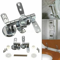 DIY Repair Replacement Toilet Seat Hinges Mountings Set Chro