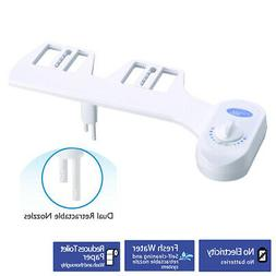 Dual Nozzles Fresh Water Spray Mechanical Bidet Toilet Seat