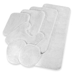Wamsutta Duet Elongated Toilet Lid Cover in White
