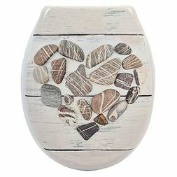 Evideco Duroplast Oval Toilet Seat Design Nature