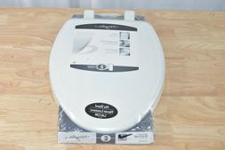 Mayfair Easy-Clean Elongated Enameled Wood Toilet Seat in Wh