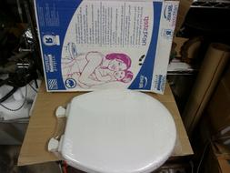 Bemis Easy Clean White Round Front Potty Training Quiet Slow