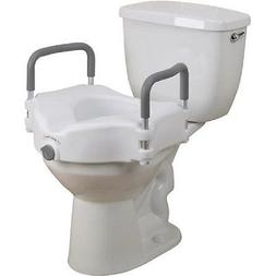 "Easy to Clean 5"" Locking Elevated Raised Toilet Seat with Re"