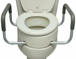Essential Medical Supply Elevated Toilet Seat with Arms, Elo
