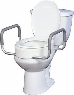 Elevated Toilet Seat w/RemArms For Regular Toilet Seat T/F K
