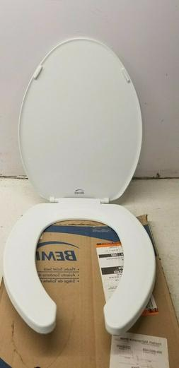 Bemis Elongated Open Front Toilet Seat and Cover 1000895633