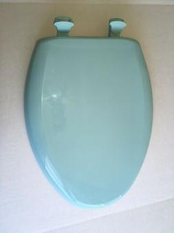 Bemis elongated Plastic toilet seat,model 1200SLOWT 565 Ligh