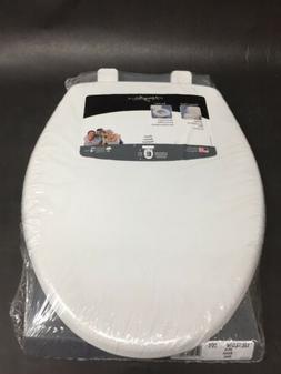 Bemis Elongated Plastic White Toilet Seat Slow Close Stain R