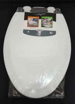 Elongated Toilet Seat Bemis 064-19-0162 Molded Wood With Eas