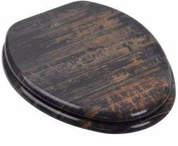 Sanilo Elongated Toilet Seat Molded Wood Strong Hinges Vinta